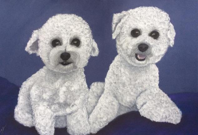 """""""Happy & Lucky"""": Pastel on A3 paper. (COMMISSIONED)"""