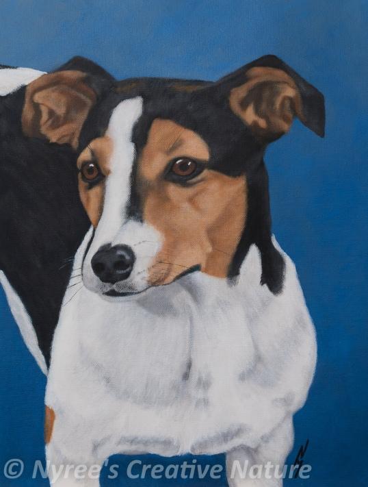 """Jimmy"": Acrylic on canvas board."