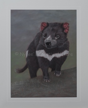 """""""Vegemite"""" the Tasmanian Devil. Pastel on A2 Paper. (SOLD). Cards and Limited Edition Prints available."""