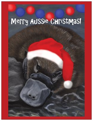 Christmas Platypus Card