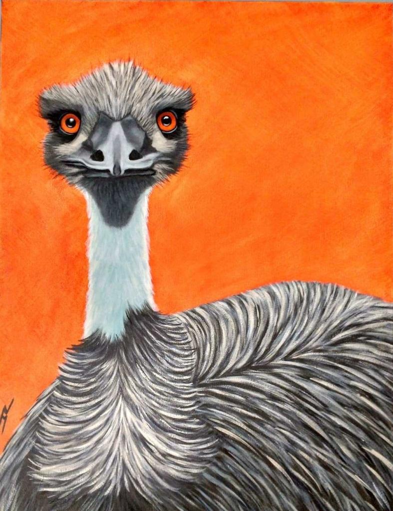"""""""Ozzie"""" the Emu. Acrylic. (NFS)."""